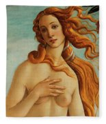 The Face Of Venus Fleece Blanket