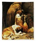 The Faith Of Saint Bernard Fleece Blanket