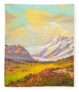 The Fall Colors Of Alaska Route 8 No.3 Fleece Blanket