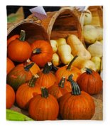 The Fall Harvest Is In Kendall Square Farmers Market Fleece Blanket
