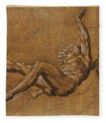 The Fall Of Icarus Fleece Blanket
