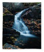 The Falls Of Black Creek In Autumn II Fleece Blanket