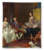 The Family Of Philip Of Parma  Fleece Blanket