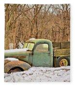 The Farm Truck Fleece Blanket