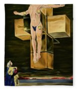 The Father Is Present -after Dali- Fleece Blanket