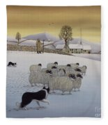 The Fells In Winter Fleece Blanket