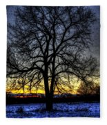 The Field Tree Hdr Fleece Blanket