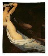 The Figures Of Francesca Da Rimini And Paolo Da Verrucchio Appear To Dante And Virgil Fleece Blanket