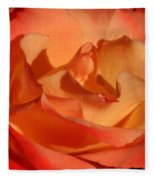The Final Rose Of Summer Fleece Blanket