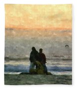 The Final Sunset Fleece Blanket