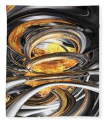 The Fire Within Abstract Fleece Blanket