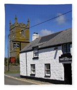 The First And Last Inn In England Fleece Blanket