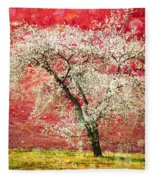 The First Blossoms Fleece Blanket