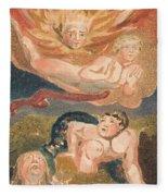 The First Book Of Urizen, Plate 22 Fleece Blanket