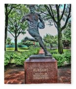The First Football Game Monument Fleece Blanket