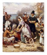 The First Thanksgiving Fleece Blanket