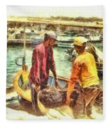 The Fishermen Fleece Blanket