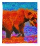 The Fishing Bear - Da Fleece Blanket