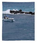 The Fishing Boat Fleece Blanket
