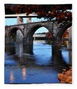 The Five Bridges - East Falls - Philadelphia Fleece Blanket
