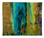 The Flair Of The Flame Abstract Fleece Blanket
