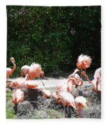 The Flamingos Fleece Blanket