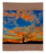 The Flavor Of The Sky Fleece Blanket
