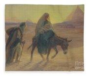 The Flight Into Egypt  Fleece Blanket