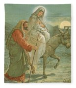 The Flight Into Egypt Fleece Blanket