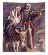The Flight Into The Egypt Fleece Blanket