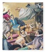 The Flight Of Father Dominic Fleece Blanket