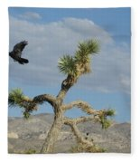 The Flight Of Raven. Lucerne Valley. Fleece Blanket