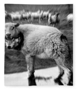 The Flock Is Safe Grayscale Fleece Blanket