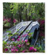The Flower Bridge Fleece Blanket
