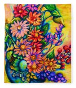 The Flower Dance Fleece Blanket