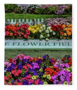 The Flower Field Fleece Blanket