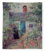 The Flower Garden Fleece Blanket