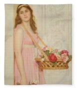 The Flower Seller Fleece Blanket