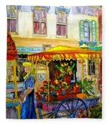 The Flowercart Fleece Blanket
