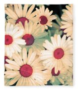 The Flowers At 5 Am Fleece Blanket
