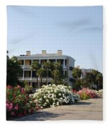 The Flowers At The Battery Charleston Sc Fleece Blanket