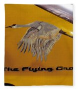 The Flying Crane Fleece Blanket