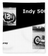The Flying Frenchman Indy 500 1927 Leon Duray Fleece Blanket
