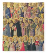 The Forerunners Of Christ With Saints And Martyrs Fleece Blanket
