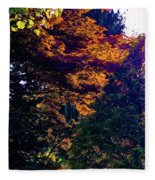 The Forest At Dusk Fleece Blanket