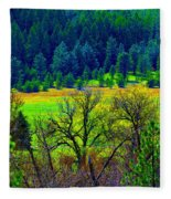 The Forest Echoes With Laughter 2 Fleece Blanket