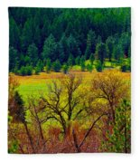 The Forest Echoes With Laughter Fleece Blanket