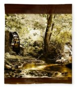 The Forgotten Watermill Wheel Fleece Blanket