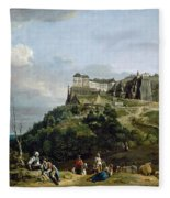 The Fortress Of Konigstein Fleece Blanket