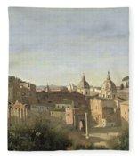 The Forum Seen From The Farnese Gardens Fleece Blanket